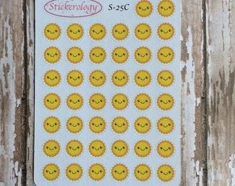 Sun Stickers, Weather Stickers, Planner Stickers, Journal Stickers, Scrapbook Stickers, C-25.