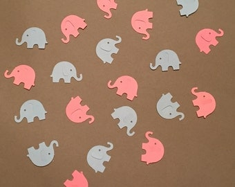 200 Pink and Blue Elephant Confetti Gender Reveal Confetti Elephant Confetti Baby Confetti Baby Shower Confetti Blue Pink