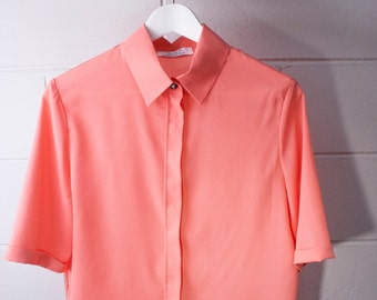 Blouse with hidden placket peach