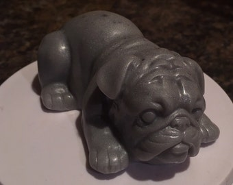 Bulldog goats milk and shea butter soap.  4.5 oz.  any scent and color you want.  Moisturizing and soothing.