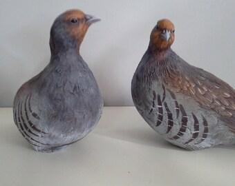 Ceramic Grey Partridges