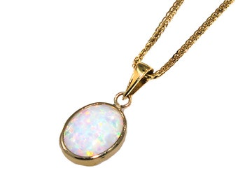 white opal pendant, gold necklace, 14k gold necklace, opal jewelry, 14 gold jewelry, small opal pendant, white opal, gold opal pendant