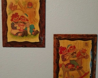 Rare Vintage Raggedy Ann and Andy Prints