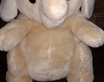 Large 1980's Vintage Plush Elephant