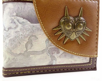 Men's Bifold Wallet Legend Of Zelda Majora's Mask 3D