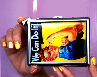 Cigarette case We Can Do IT, Chrome Lighter unusual lighters Lighter Funny Lighter