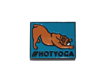 Hot Yoga Enamel Pin