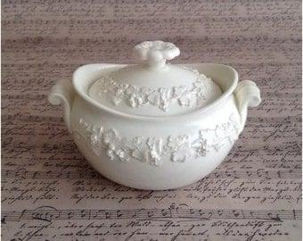 Wedgwood Queensware Cream on Cream Sugar Bowl