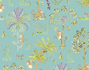 "Dena Designs FreeSpirit Cotton Fabric ""Sundara Oasis""  Lalika Aqua"