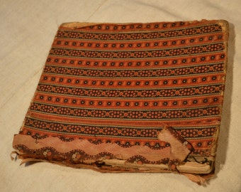 Real true fabric covered antique book