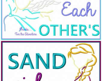 Frozen Two Pack Anna and Elsa- We Finish Each Other's Sandwiches  Digital Embroidery Machine Applique Design File 5x7 6x10