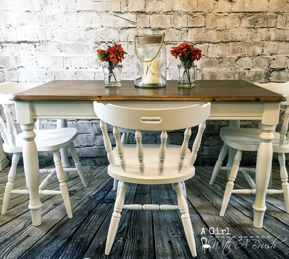 Farmhouse White Dining Table and Chairs by StudioTwentysevenCo