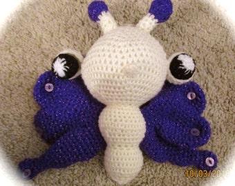 crochet amigurumi stuffed toy butterfly