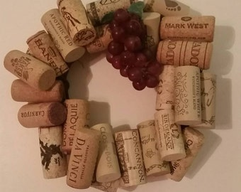 Handmade Wine Cork Wreaths