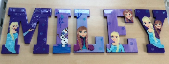 Princess room with wooden letters.
