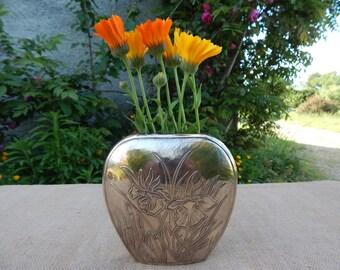 Very Heavy Cast Brass Vase