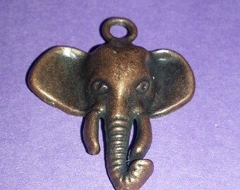 Small Copper Elephant Pendant
