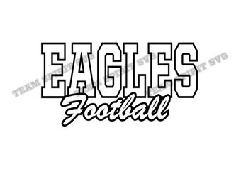 Eagles Football SVG, DXF, EPS, Silhouette Studio, Eagles Shirt, Vinyl Cutting Files, Digital Cut Files - For use with Cricut and Silhouette