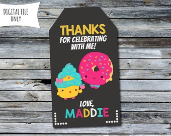 Shopkins Thank You Tags / Party Bag Tags (Personalized) Digital Printable File
