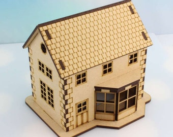 Laser Cut House Kit with Bay Window