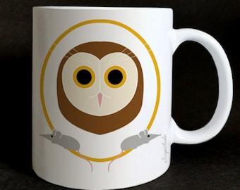 """Mug """"les Grozeuil"""" Jeannette the owl"""