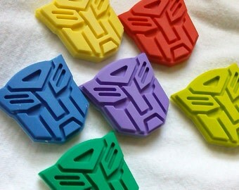 Recycled Crayons - Transformer Inspired Crayon - Children Birthday Party Favor Gift - Set of 4