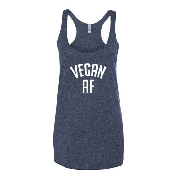 Vegan AF racerback tank, Funny Tank, Shirt, Gym Tank, Yoga Top, summer, boating, beach, vacation, swimmer, animal rights, rescue