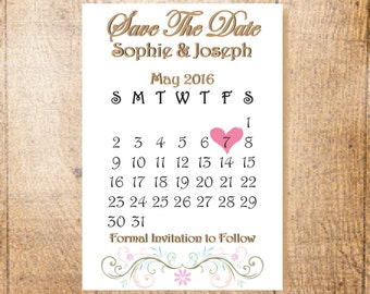 Save the Date Cards, Personalised, Hand Finished