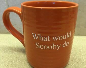 What would Scooby do orange mug