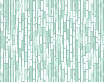 Art Gallery Fabric - Pandalicious - Mist - Bamboo look - Fabric Sold by the Fat Quarter - FQ - Woven Cotton