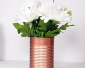 Brand New Trending Painted Tin Cans- Wedding Centerpieces- Copper- Vintage- flower Vases- Rustic Weddings
