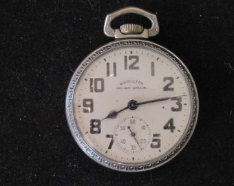 how to open a hamilton railway special pocket watch