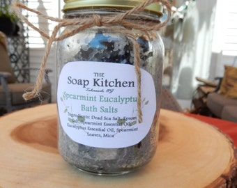 Spearmint Eucalyptus Bath Salts