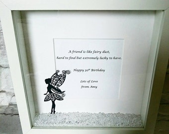 Personalised Friendship Frame ~ Fairy Dust: Gifts for her ~ Birthday ~ Best Friend ~ Sister ~ Aunt