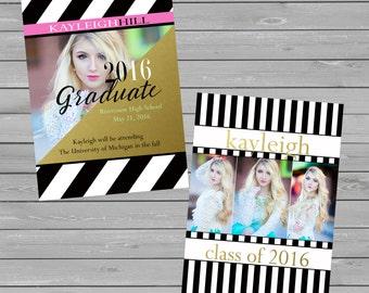 Senior Graduation Announcements, Graduation Announcement Template, Senior Graduation Template