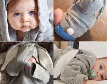 Grey Bunny Jumper for babies and toddler