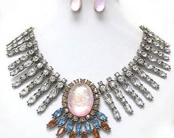 Crystal Chandelier Necklace Set