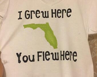 I Grew Here You Flew Here Tee