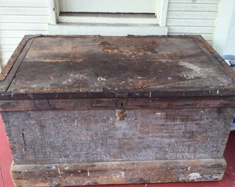 Antique Primitive Wooden Tool Chest