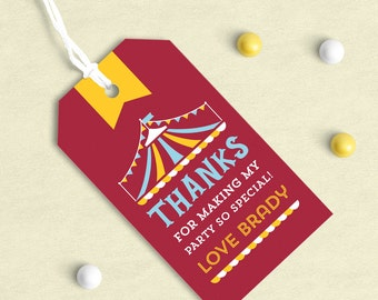 Carnival party, Carnival theme, Circus Party, Circus theme, Carousel party, Carousel theme, Carnival party favors, favor tags, favor tags