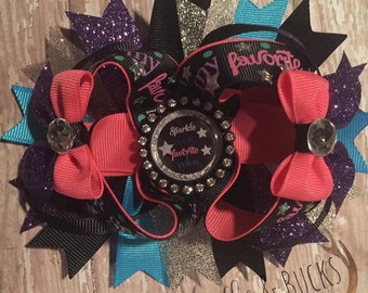Hair bow - Sparkle is my favorite color