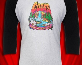 Coors beer Vintage Tee t-shirt 1970's free ship to USA