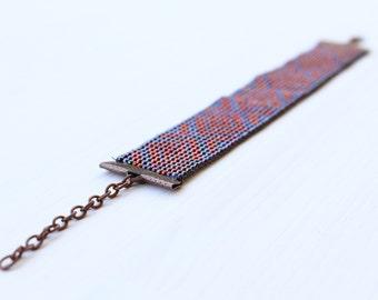 ORIENTAL SUNSET beadwoven bracelet