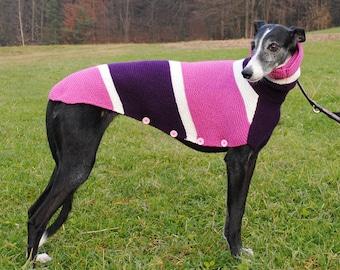 Handmade Dog Sweater - Lila-Purple - Greyhound, Galgo