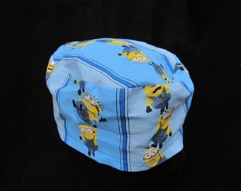 Blue Stripped Minion Scrub Hat