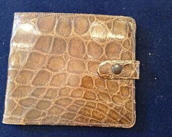 Vintage Crocodile Leather Wallet