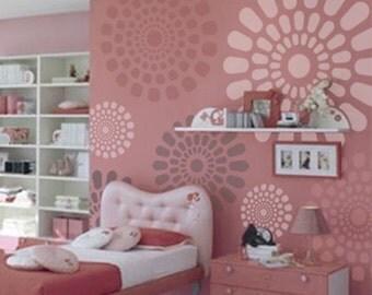 Wall Stencil Geometric 021 Flowers