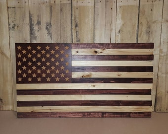 American Flag out of reclaimed Pallet Wood