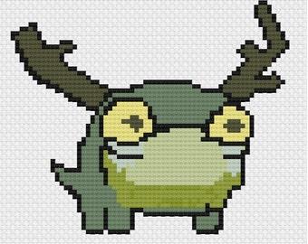 Frogglet (Castle Crashers) Cross Stitch pattern (PDF)