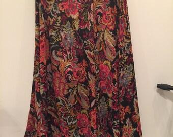 Flowy circle maxi skirt
